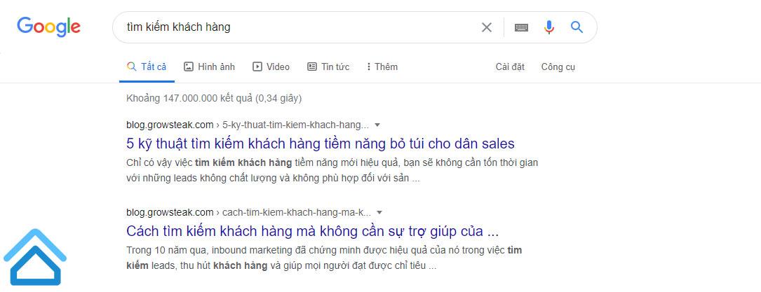 Tiếp cận thông qua các công cụ tìm kiếm