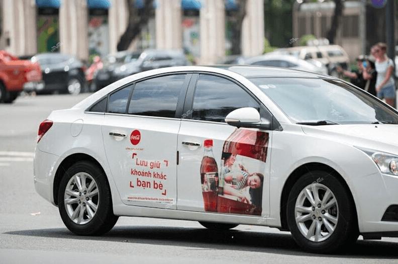 dán quảng cáo trên xe ô tô – xe tải
