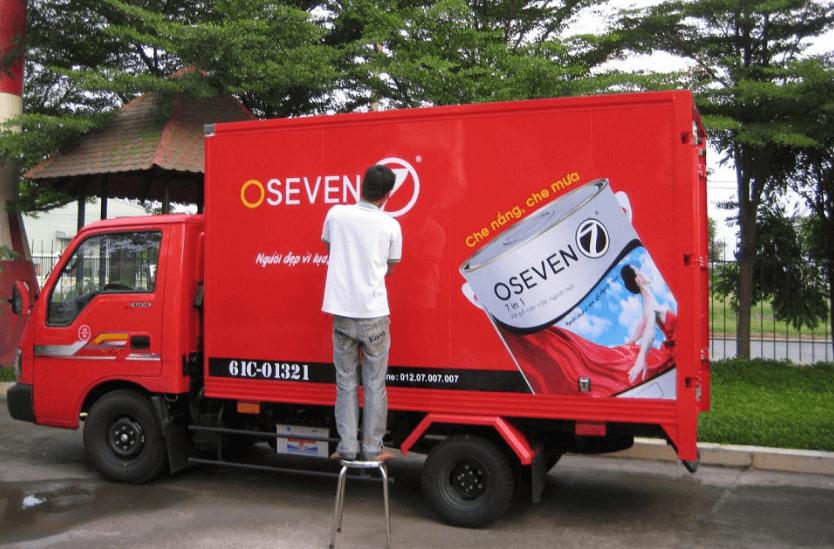 Đơn vị dán quảng cáo xe ô tô - xe tải
